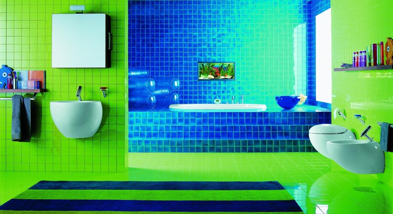 Дизайн ванной комнаты ярких цветов фото